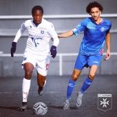 ✌🏽 Victoire 4-0 des #U17 face à Mulhouse 🔵⚪️ 5️⃣ Cinquième succès consécutif 💪🏽 🥈 Deuxième du championnat, à trois points du leader, après sept journées 👊🏽 ▫️▫️▫️ Bravo à nos jeunes pour cette belle victoire.  ▫️▫️▫️ #FormationAJA @acadomia